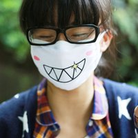 Wholesale 1pc Cute Kawaii Anime Kaomoji kun Emotiction mouth muffle Winter Cotton Funny Mouth Anti Dust Face Masks