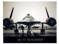 aviation wall decor - Blackbird Military Spyplane Aviation Art Classical Stylish Nice Home Decor Retro Poster x76cm Wall Sticker