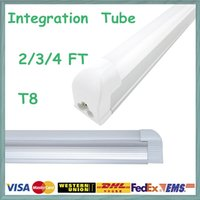 led tube - New tube base Integrated LED tube SMD ft T8 Led Tube Lights Super Bright W W W Warm Cool White Led Fluorescent Tube Lamp
