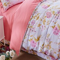 best luxury bedding - Best Set Floral Sheet Vivid Printed royal luxury Bedding Choice For Bedroom Duvet Cover Queen Bedspread on Sale