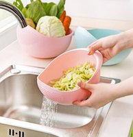 basin machine - plastic Clean Rice Machine Vegetables basin wash rice sieve fruit bowl fruit basket the kitchen good cooking tools cm