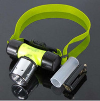 battery pool lights - Free DHL New Waterproof Lm W CREE T6 LED Diving Swimming Headlamp Headlight Light Flashlights by AAA battery