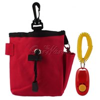 Wholesale Outdoor Portable Dog Pet Treat Training Bait i click Ball Pouch Clicker Food Holder Waist Bag Supply