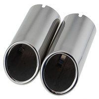 Wholesale Pair Exhaust Muffler Tip Pipe For VW Jetta MK6 TDI Chrome