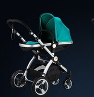 Wholesale 1Pcs baby pram colorful cute stainless steel baby stroller Lightweight four wheel ride lying folded baby car