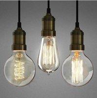 Bombillas de filamento de 40W 60W 110V-220V Antiguas lámparas de lámpara de LED de la lámpara de la bombilla de la luz de Edison del estilo de la antigüedad de la vendimia BULBO E27