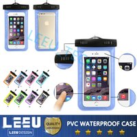 Wholesale For iphone s iphone s plus Universal Clear Waterproof Pouch Case Water Proof Bag Underwater Dry Storage with line For note s6 edge plus
