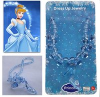 Wholesale 2015 Hot cinderella necklaces for kids girls Fashion children girl cartoon cinderella princess pendant necklace jewelry for wedding party