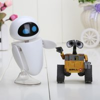 PVC action wall - 2pcs set cm Wall E Robot Wall E EVE PVC Action Figure Collection Model Toys Dolls