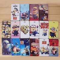 minions case - Despicable Me Flip PU leather Cases Cove Painted Cartoon Cute Minions Back Cover with Credit Card Slot Stand holder For iPhone plus s