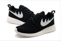 Wholesale Roshe Run White and black London Olympic sport shoes men and women summer breathable trainers network sneakers size