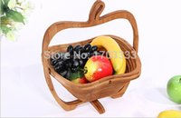 bamboo storage basket - 50PCS Novelty item folding fruit bamboo basket home storage