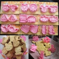 Wholesale 2Pcs Cartoon Cookie Biscuit Fondant Sugarcraft Cake Decorating Mold Cutter DIY