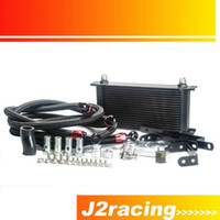Wholesale J2 RACING STORE NEW BLACK OIL COOLER KIT FOR NISSAN Z Z OIL COOLER KITS PQY5124BK