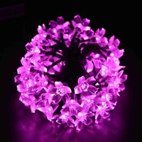 led lawn light - Solar Fairy String Lights ft LED Pink Blossom Decorative Gardens Lawn Patio Christmas Trees Weddings Parties Indoor and Outdoor U
