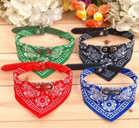Wholesale 2014 New Fashion Dog Bandana Triangle Scarf Collars Pet Cat Puppy Collars Fashion Dog Necklaces Pet Supplies