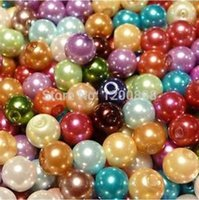 Yes assorted pearl beads - 50pcs Faux Pearl Glass Beads Round Charms Assorted Colors mm B280