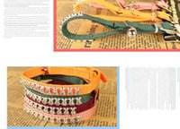 Wholesale 100pcs Small boutique knit collar with diamond cat collar with bell pet dog traction