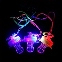 attention light - Light Up Nipple Shape Whistle Led Flashing Attention Blinking Colors Party Festive Party Supplies Favor Decor