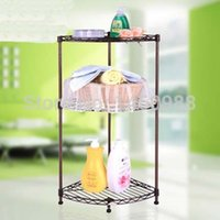 bathroom wire shelves corner - 3 Tiers Metal Bathroom Corner Wire Shelf