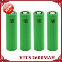 digital camera battery - 3 V US18650 VTC5 mAh A Rechargeable Li on Battery for Sony Fit E Cigarette Mod LED Torch Digital Camera Free DHL