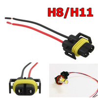 auto bulb socket - New H8 H11 Female Adapter Wiring Harness Socket Car Auto Wire Connector Cable Plug For HID LED Headlight Fog Light Lamp Bulb order lt no tra