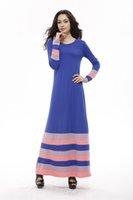 Wholesale 3 Colors Elegant Muslim Dress Long Islamic clothing for Women Malaysia clothing abaya Muslim clothing for women abaya in dubai