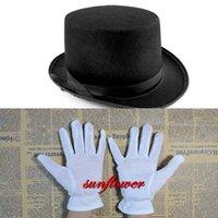 Wholesale Children Kids Top Hat White Gloves Fancy Dress Costumes Set Magic Boy