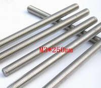 Wholesale SS304 Metric M3 Stainless Steel Threaded Rod Thread Bar length about mm l