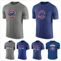 ac logos - Chicago Cubs Collection Legend Logo Performance TShirt Gray AC Legend Team Issue TShirt Royal Men s Clothing Size S XL