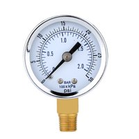 Wholesale 0 psi bar Portable and Convenient Mini Dial Air Compressor Meter Hydraulic Pressure Gauge Gage Double Scale Manometer