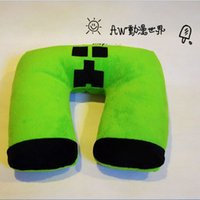 Wholesale 2015 AAA quality MineCraft JJ u shaped nap office tvavel car bed neck cushions Neck Protection Health Care breathable Pillow TOPB1740