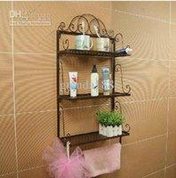 Wholesale Euro Bathroom Shelves three layers toilet shelf