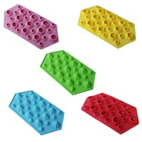 Wholesale Hot Diamond Mold Ice Cube Tray Cavities Crystal Silicone Ice Mold Candy Happy Kitchen Time forma de silicone Smile