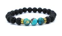 agate stretch bracelet - New Products Lava Stone Beads Natural Stone Bracelet Men Jewelry Stretch Yoga Bracelet