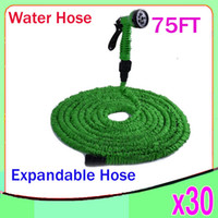Plastic 75 ft expandable garden hose - 75 FT Expandable Flexible WATER GARDEN hose flexible water HOSE with valve and Spray Nozzle YX SG
