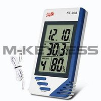 Wholesale New in Digital Humidity Temperature Tester Hygrometer Thermometer Clock Humidity Temperature Meter