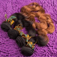 Cheap Hot Sales Ombre Body Wave Virgin Hair Weft Indian Brazilian 100 Natural Remy Human Hair Extensions Bundles 1B 30# Color 6A Grade 1pc