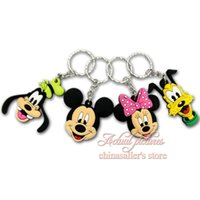 Wholesale Novely Mickey keychains Action Figure cartoon Keychain Keyring Key Ring Cute key chain Hanging Accessories Hot Selling