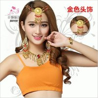asian access - Belly dance performances accessories adult Indian dance headdress jewelry female Eyebrows pendant new style Indian dance performances access