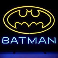 batman shop - 17 quot x14 quot New Batman Superhero Comic design Real Glass Neon Light Signs Bar Pub Restaurant Billiards Shops Display Signboards