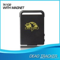 gps antenna cable - Mini GPS GSM GPRS Car Vehicle tk102 Tracker tk102 TK102B with usb cable Realtime tracking device A5