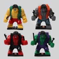 Wholesale SY255 Building Blocks Super Heroes Avengers Age Of Ultron Minifigures GREEN GREY PURPLE RED Hulk MiniFigures Bricks Toys models
