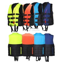 Wholesale Hot sale Life Jacket Vest PFD Fully Enclose Foam Boating Fishing Jackets Chaleco Salvavidas For Adult Size L XL XXL Whistle