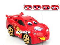 Wholesale Pixar cars truck sport toy cars set for kids children Christmas Gift Clockwork toy cars eyes and tongue can move