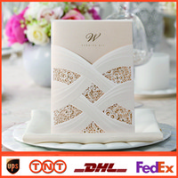Invitations & Invitation Buckles lace wedding invitations - Personalized Lace Hollow Wedding Invitation Free Printing Inner Sheet cm cm Laser Cut Wedding Cards HQ1035
