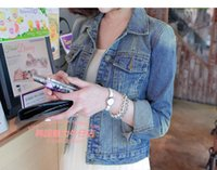blue jean jacket - Women jaquetas femininas veste en jean femme denim jacket chaquetas mujerFashion korean style vintage ripped blue jean jackets
