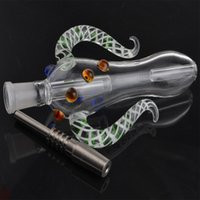 Wholesale Nectar Collector with Titanium Nail mm Grade Titanium Mini Glass Pipe Oil Rig Honey Straw Concentrate Honey Dab Straw Mini Glass Bong