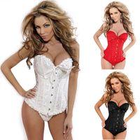 Wholesale sexy corset women steel bone bustier corset lingerie pant shape corser
