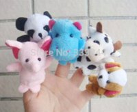 Cheap Free Shipping 15PCS Lot Baby Plush Toy Finger Puppets Tell Story Props(10 Animal Group)Animal Doll  Kids Toys Children Gift BP53